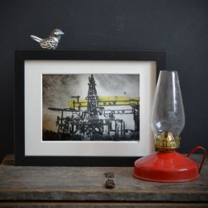 Harland & Wolff Oil Rig Print-0