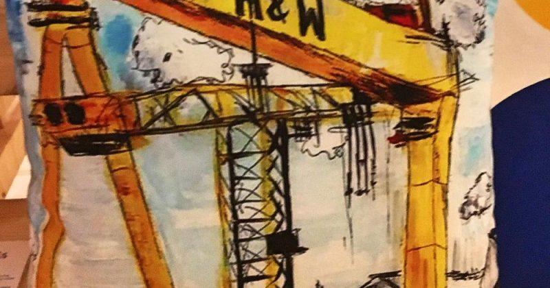 Harland & Wolff Cranes Cushion