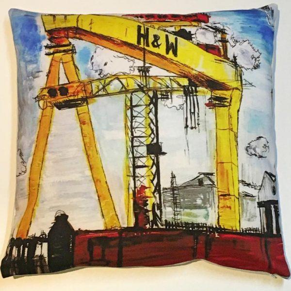 Harland & Wolff Cranes Cushion-10