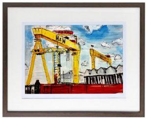 H&W Cranes Print-0