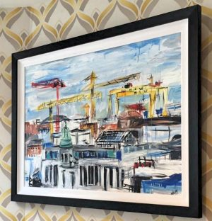 Original Painting - Belfast Rooftops-0