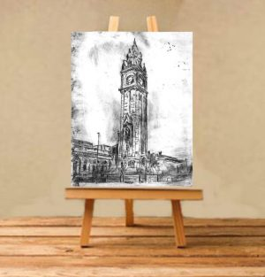 Albert Clock Print on Canvas - Unframed-0