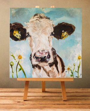 Daisy Print on Canvas - Unframed-0
