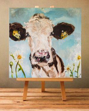 Daisy Print on Canvas - Unframed-0