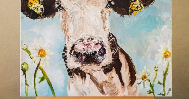 Daisy Print on Canvas – Unframed
