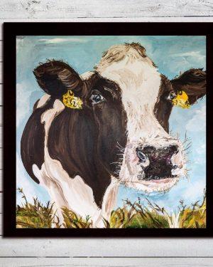 Mabel Print on Canvas - Framed in Black-0
