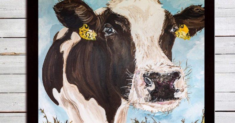 Mabel Print on Canvas – Framed in Black
