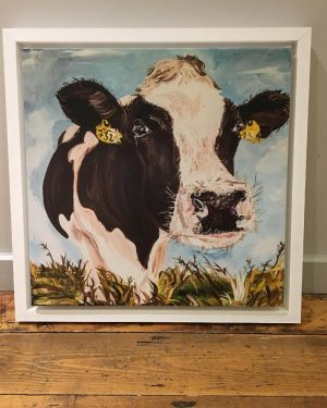 Mabel Print on Canvas - Framed in White-0