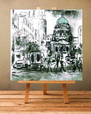 Belfast City Hall Print on Canvas - Unframed-0