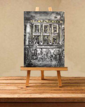 Crown Bar Print on Canvas - Unframed-0