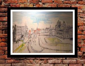 Original Painting - City Hall looking East-0