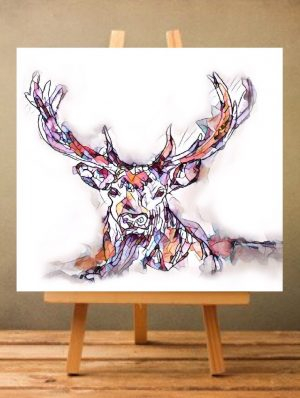 Reflections Print on Canvas - Stag - Unframed-0