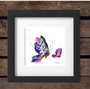 Mothers' Day 2017 Special Edition Print - Butterflies in Black Frame-0