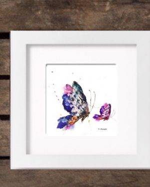 Mothers' Day 2017 Special Edition Print - Butterflies in White Frame-0