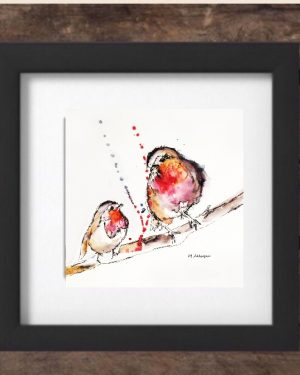 Mothers' Day 2017 Special Edition Print - Robins in Black Frame-0