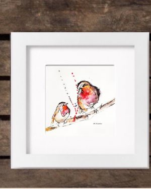 Mothers' Day 2017 Special Edition Print - Robins in White Frame-0