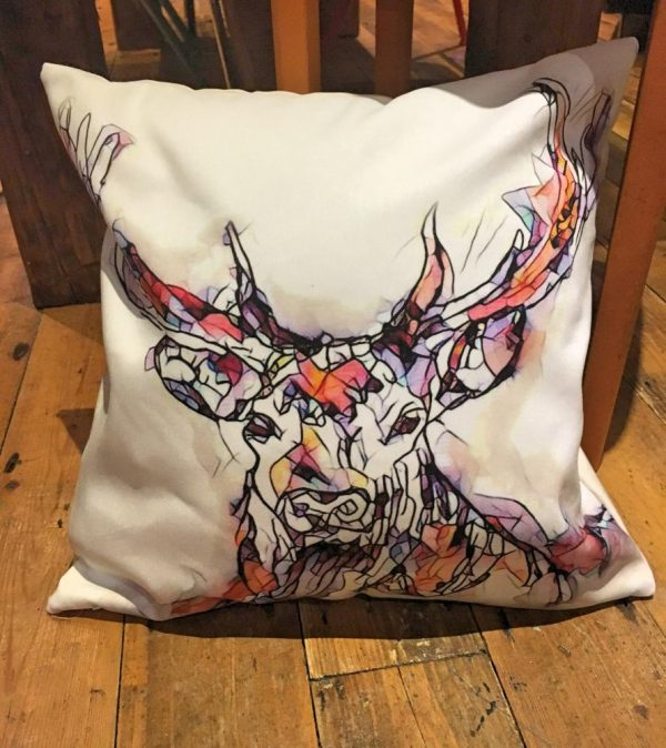 Reflections Stag Cushion-0