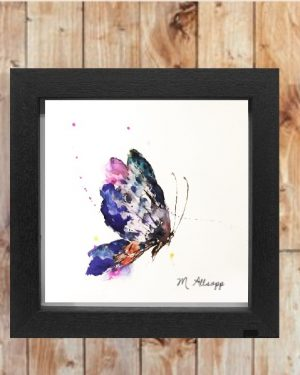 Butterfly Print on Canvas - Framed in Black-0
