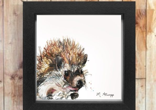 Spike Print on Canvas – Framed in Black