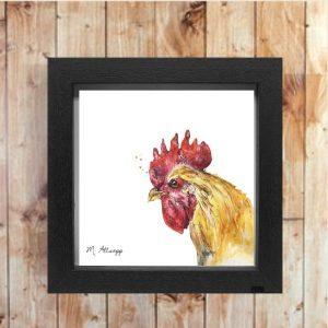 Henrietta Print on Canvas - Framed in Black-0