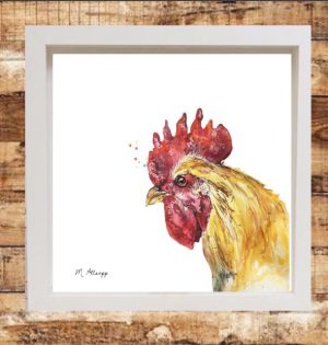 Henrietta Print on Canvas - Framed in White-0