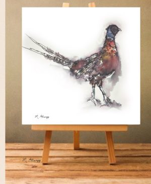 Pheasant Print on Canvas - Unframed-0