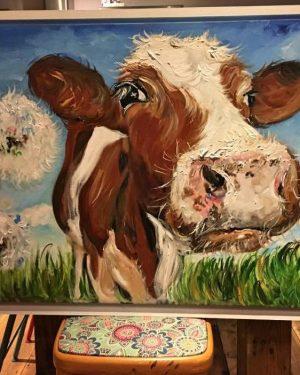 Rupert Print on Canvas - Framed in White-0