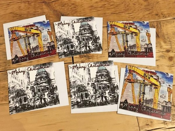 Pack of 6 Greeting Cards - Christmas Belfast-0