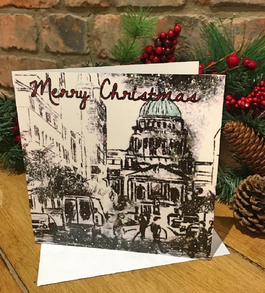 Christmas City Studio.Individual Greeting Card Christmas City Hall