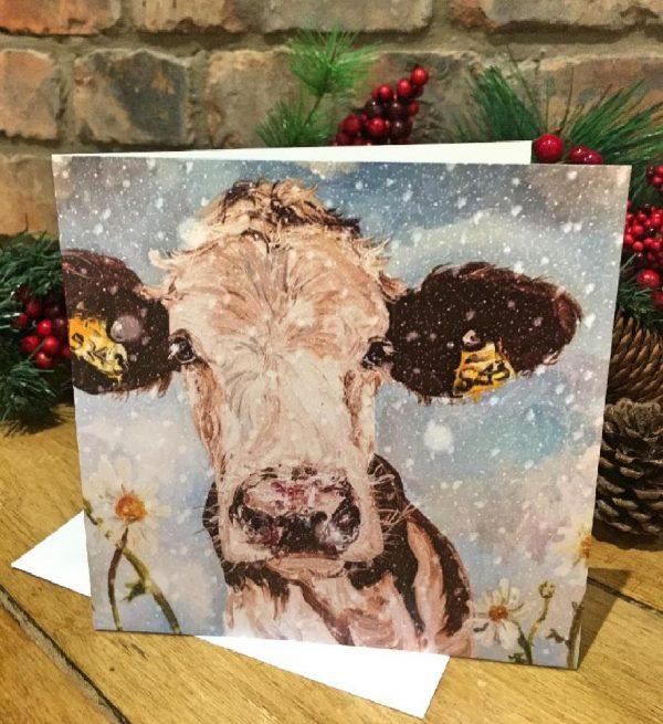 Individual Greeting Card - Christmas Daisy-0