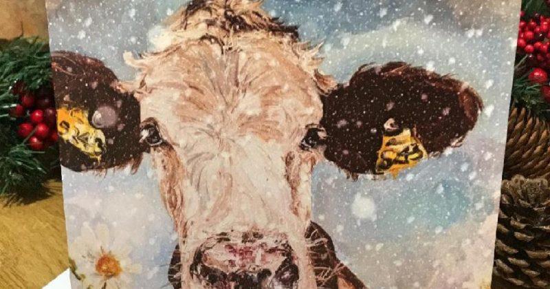 Individual Greeting Card – Christmas Daisy