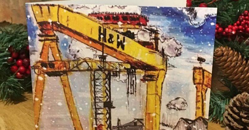 Individual Greeting Card – Christmas Cranes