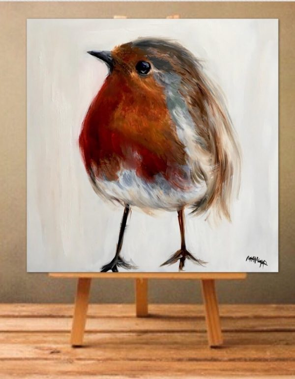 Robin Chick Print on Canvas - Unframed-0